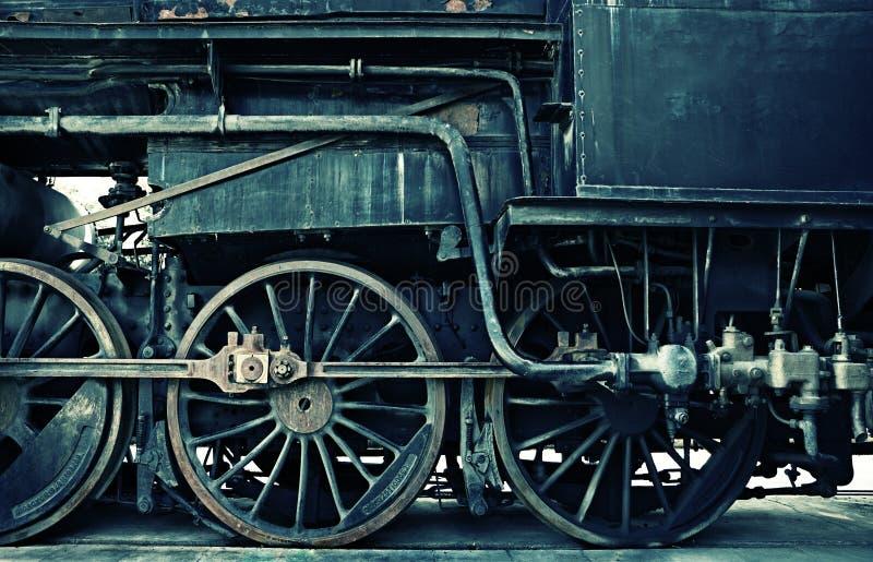 Horizontal steam engine acidic version royalty free stock photo