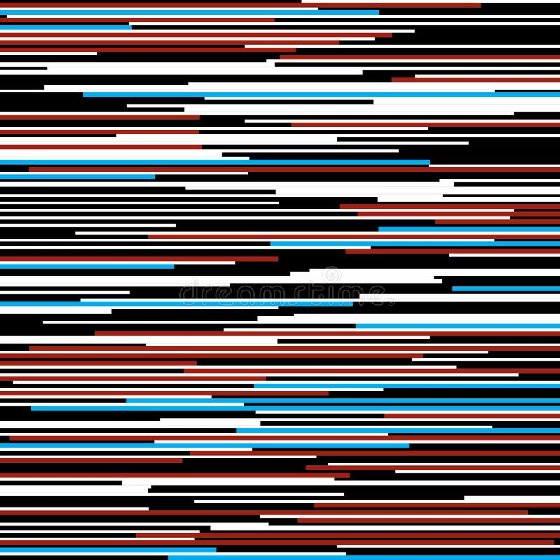 Horizontal straight colored lines pattern. On white background vector illustration
