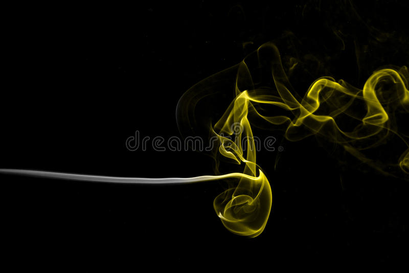 Horizontal stream of smoke royalty free stock photo