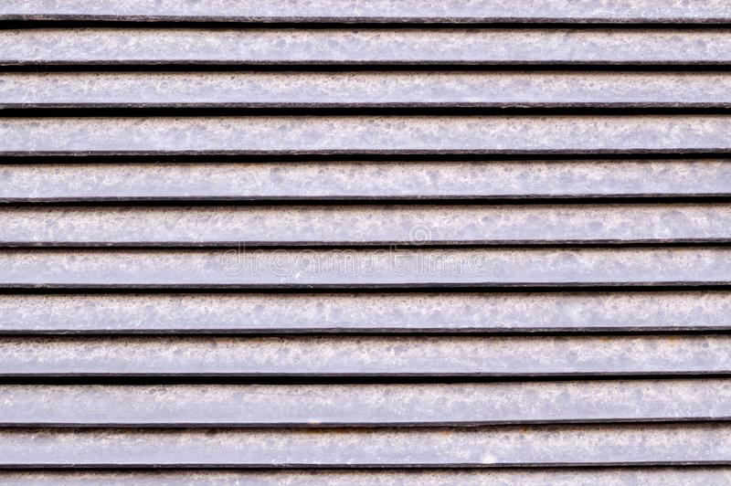 Horizontal stripes of metal jalousie exterior. background, texture. stock images