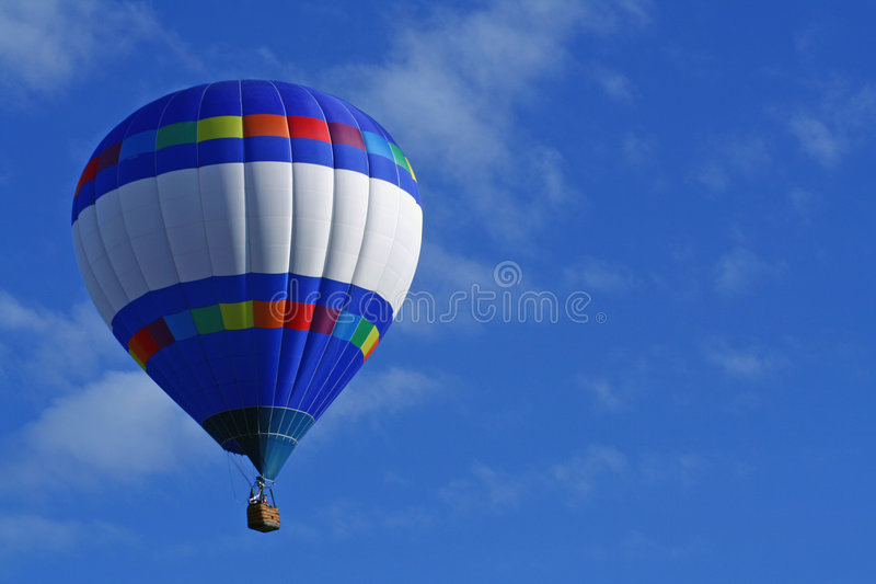 Horizontal Strips Hot Air Balloon stock image