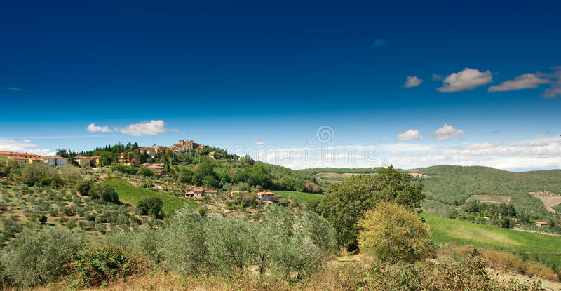 Horizontal, Toscane Val d'Orcia images stock