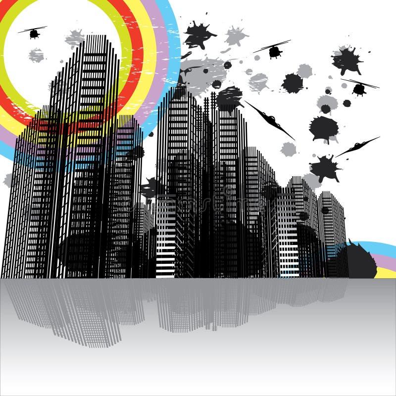 Horizontal urbain 2 de scène illustration libre de droits
