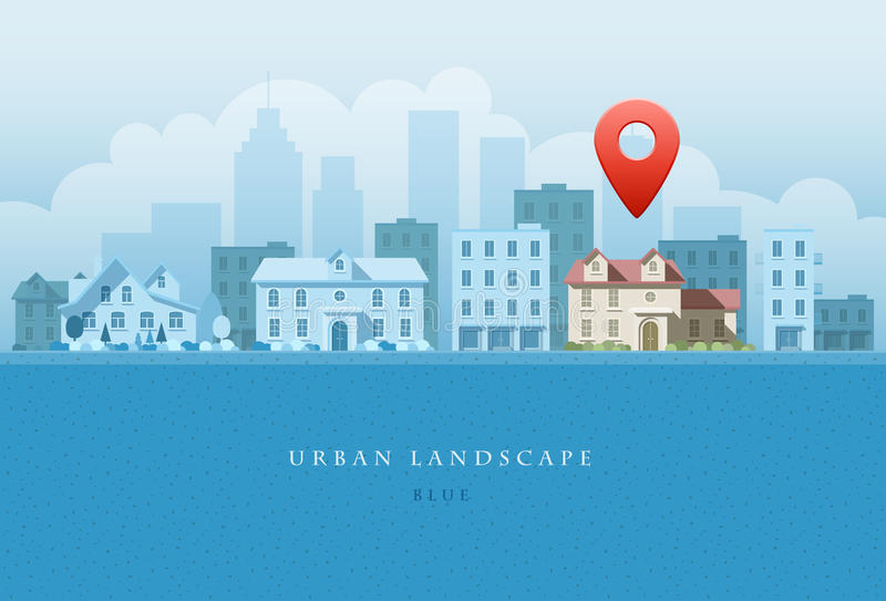 Horizontal urbain illustration libre de droits
