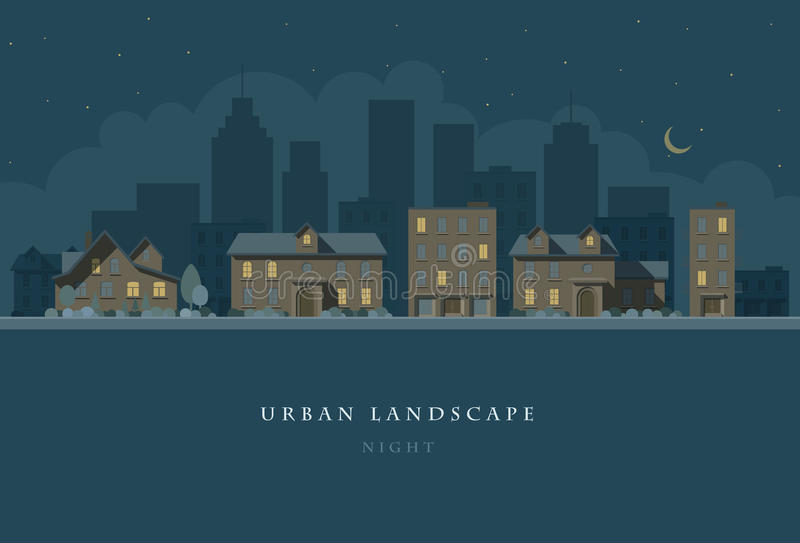 Horizontal urbain illustration de vecteur