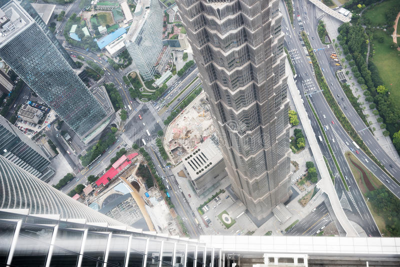 Horizontal urbain de Changhaï photo libre de droits