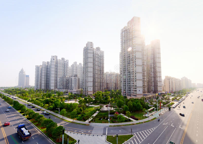 Horizontal urbain (Nan-Tchang, Chine) photographie stock