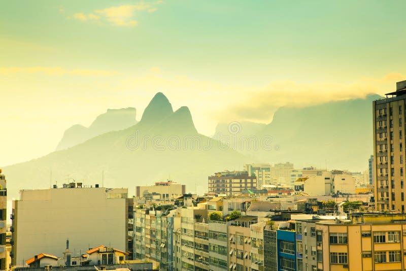 Horizontal urbain Rio de Janeiro Brésil photos stock