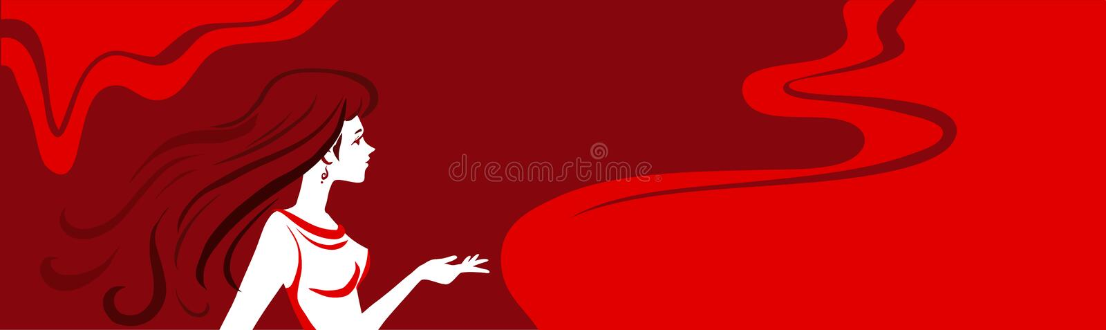 Download Horizontal Vector Background With Woman Stock Vector - Image: 37487905