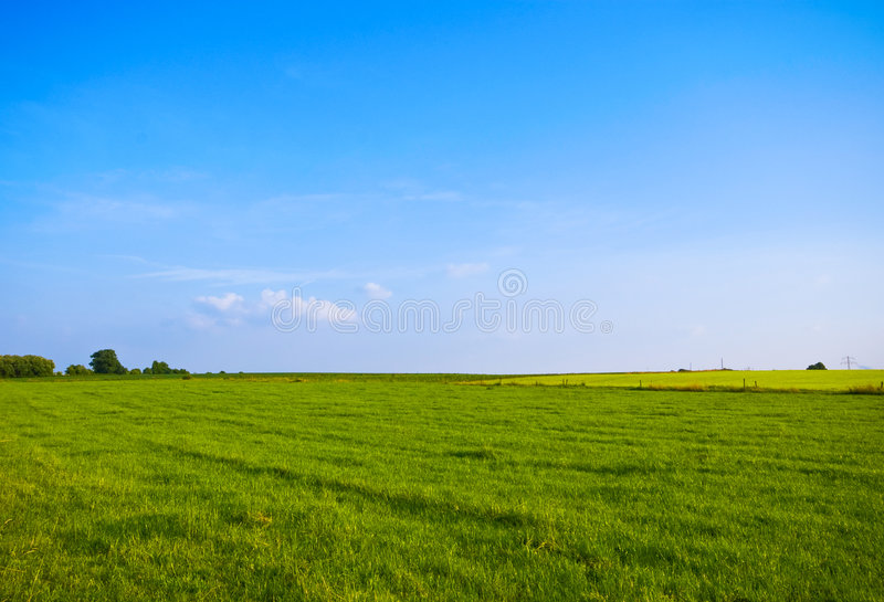 Horizontal vert-bleu photographie stock