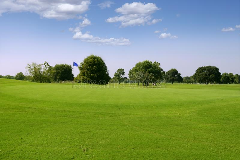 Horizontal vert d'herbe de golf dans le Texas images libres de droits
