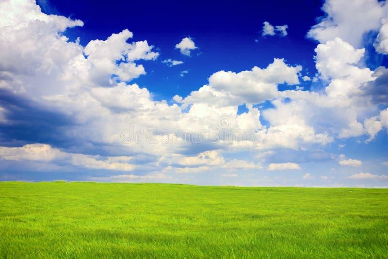 Horizontal vert et bleu photo stock