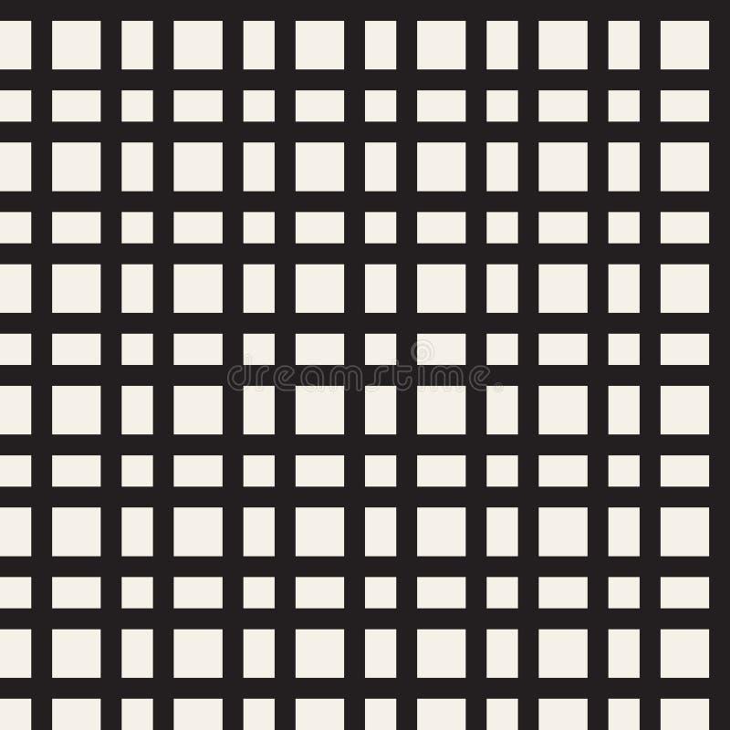 Horizontal and vertical black bands, seamless plaid royalty free illustration