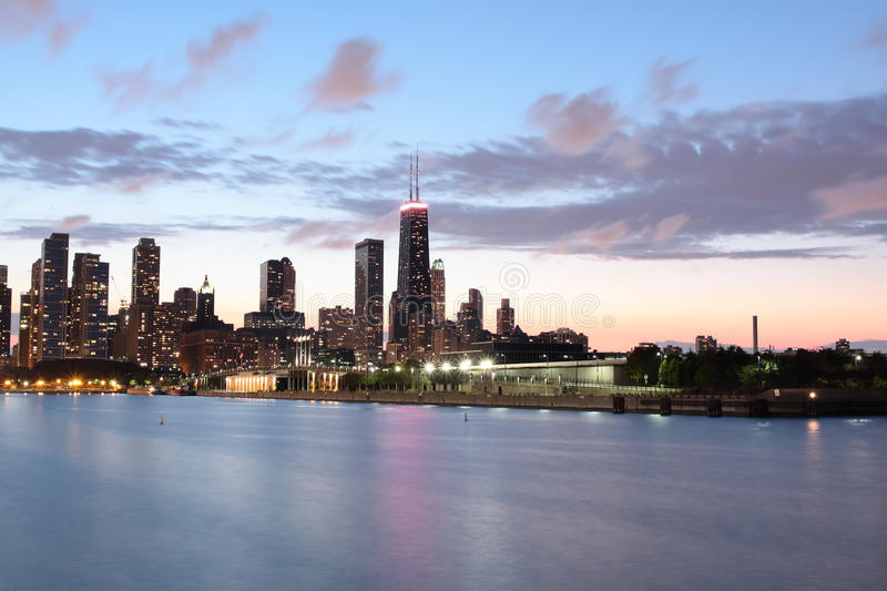 Download Horizontal View Of Chicago's Skyline Stock Image - Image: 25279509