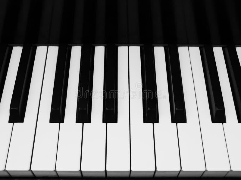 Horizontal view of piano keys royalty free stock photos