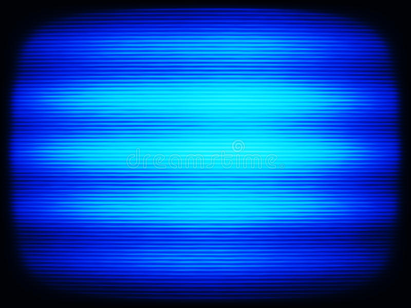 Horizontal vintage blue interlaced tv screen abstraction backgro stock illustration