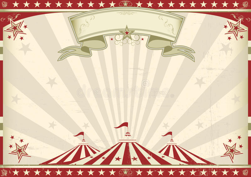 Horizontal vintage circus vector illustration