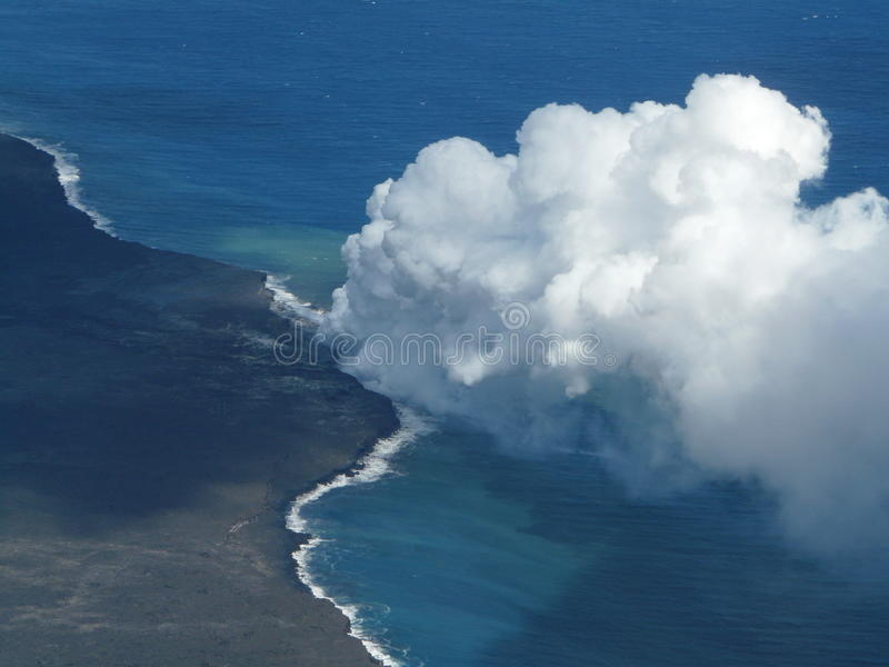 Horizontal volcanique photo stock