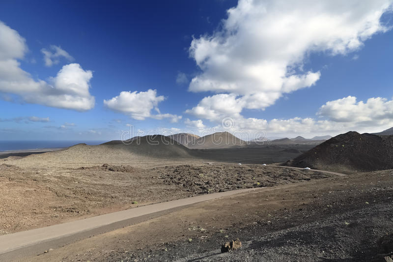 Horizontal volcanique d'île de Lanzarote photos libres de droits