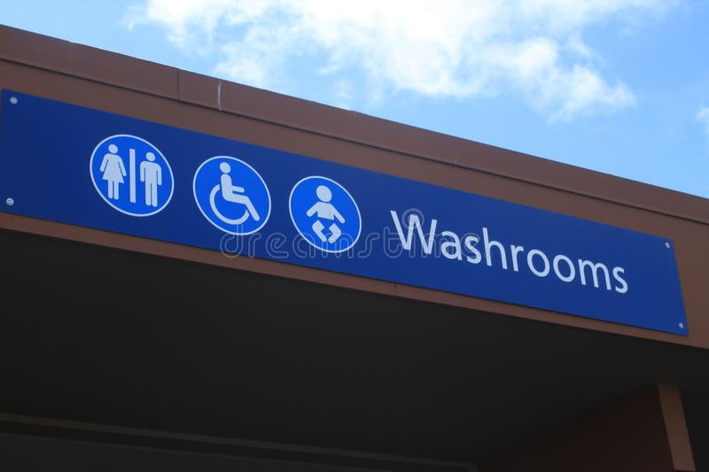 Horizontal Washroom Sign royalty free stock photos