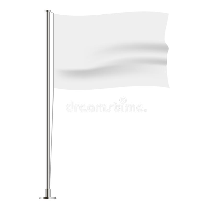 Horizontal wavy flag. Realistic mockup. Vector. vector illustration