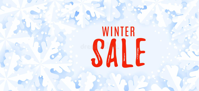 Horizontal web banner for web. Winter sale background. Horizontal web banner for web. Winter sale background royalty free illustration