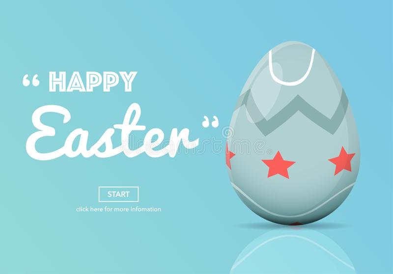 Horizontal Web Banners with Easter Concept. vector illustration