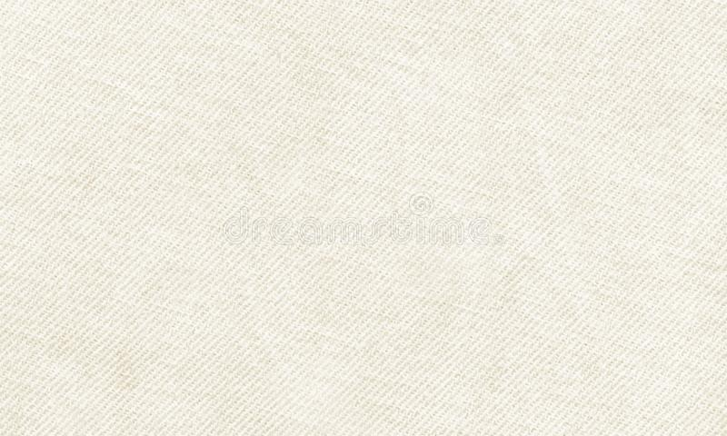 Horizontal white canvas material to use as background or texture stock illustration
