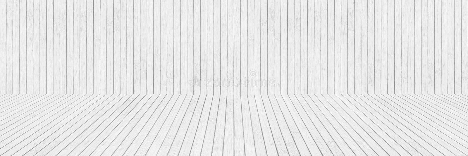 Horizontal white wooden wall and floor for pattern and design. Abstract, backdrop, background, bamboo, beige, blank, board, carpentry, craft, decor, decoration royalty free stock image