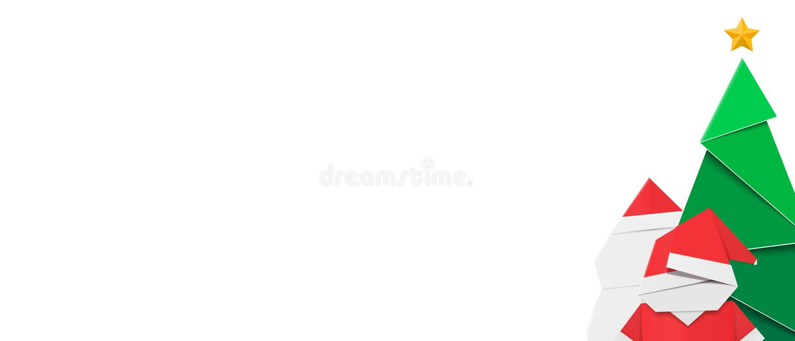 Horizontal winter banner template for web and mailing with festive composition and white space. Horizontal winter banner template for web and mailing with stock illustration