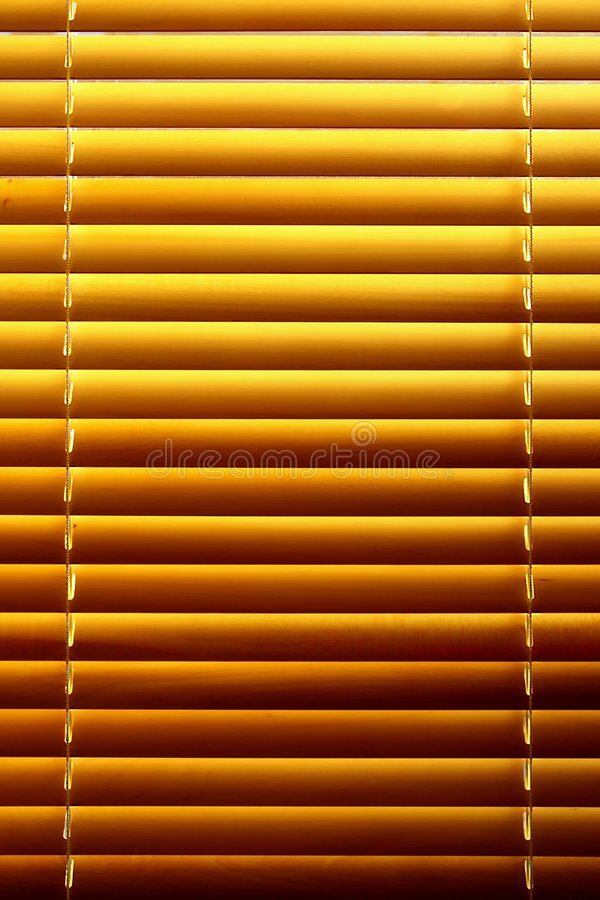 Horizontal yellow jalousie. Out of wood royalty free stock photography
