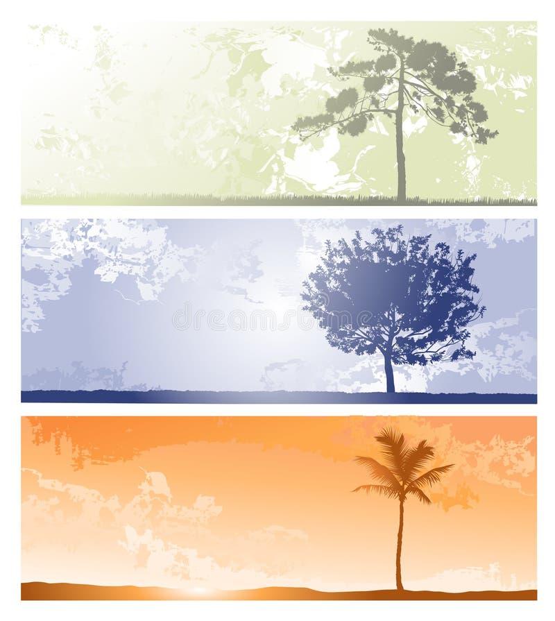 Horizontale achtergronden voor ontwerp vector illustratie