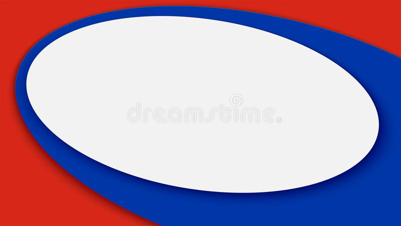 Horizontale banner, achtergrond van voetbal of het kampioenschapskop van de voetbal 2018 wereld Vector 3D illustratie voor sporte stock illustratie