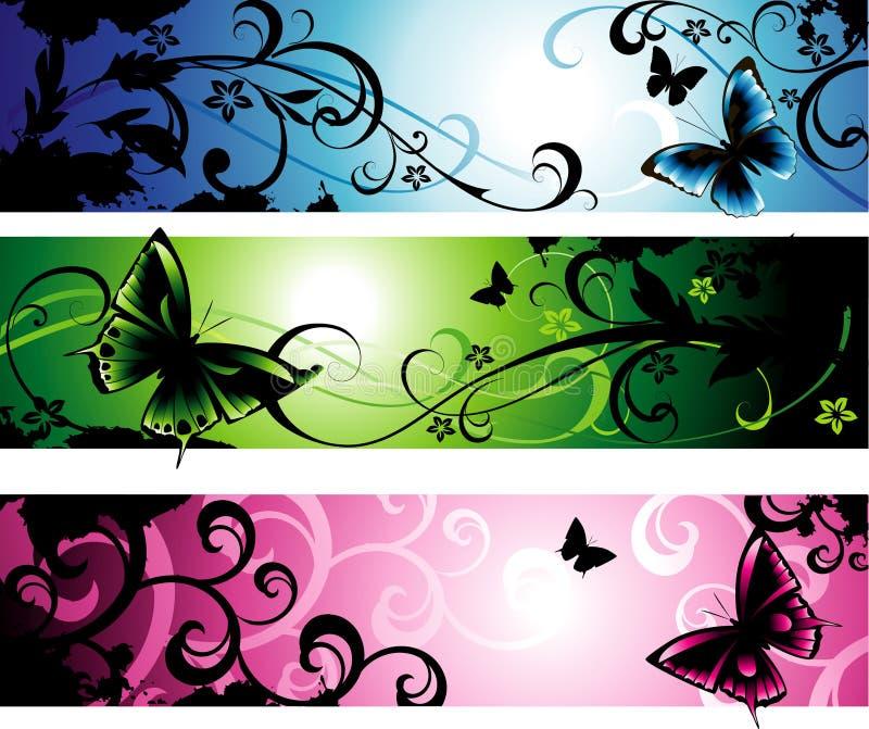 Horizontale banners vector illustratie