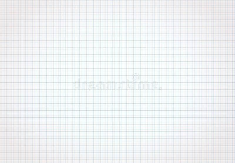 Horizontale blauwe geregeld, document van de net het witte wiskunde Achtergrond voor school stock illustratie