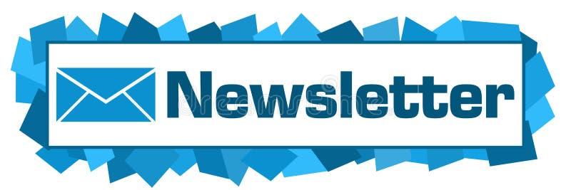 Horizontale bulletin Blauwe Willekeurige Vormen royalty-vrije illustratie