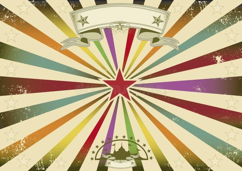 Horizontale circus retro partij stock illustratie