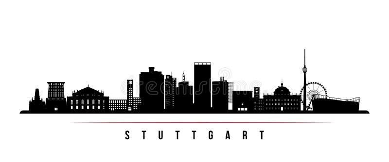 Horizontale Fahne der Stuttgart-Stadtskyline vektor abbildung
