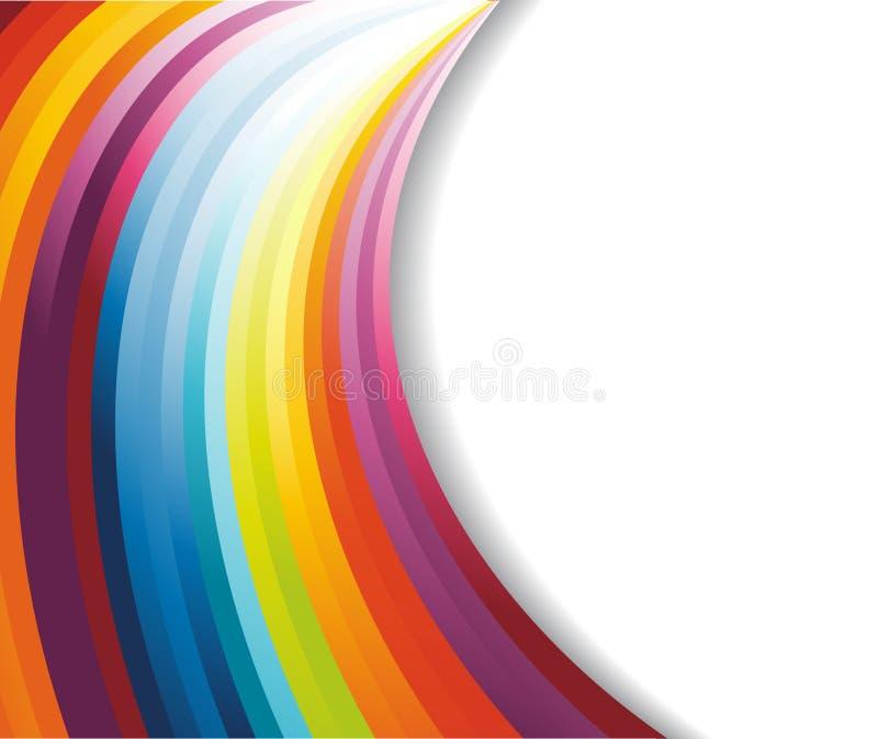 Horizontale Fahne des Regenbogens lizenzfreie abbildung