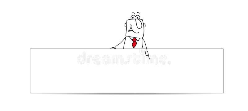 Horizontale Fahne mit dem Geschäftsmann stock abbildung