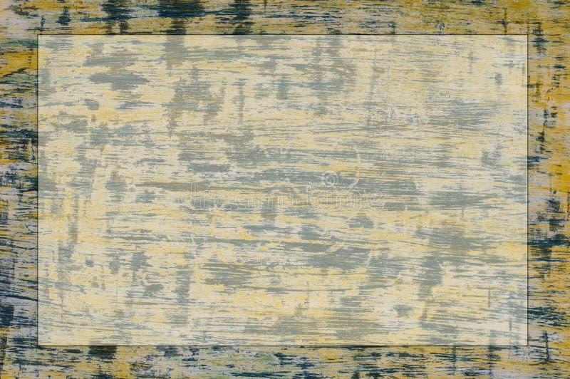 Horizontale gelb-blaue Beschaffenheit mit einem Platz für eine Aufschrift lizenzfreie stockbilder