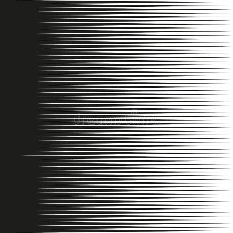 Horizontale Geschwindigkeitslinien für Comic-Bücher Gerade, parallele Linien extrahieren geometrische Beschaffenheit, einfarbige  stock abbildung