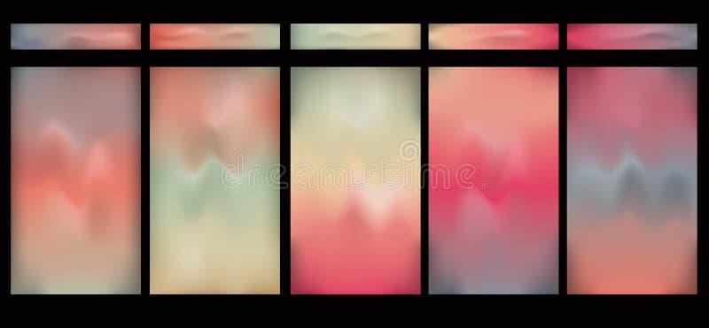 Horizontale gloeiende gradiëntknopen vector illustratie