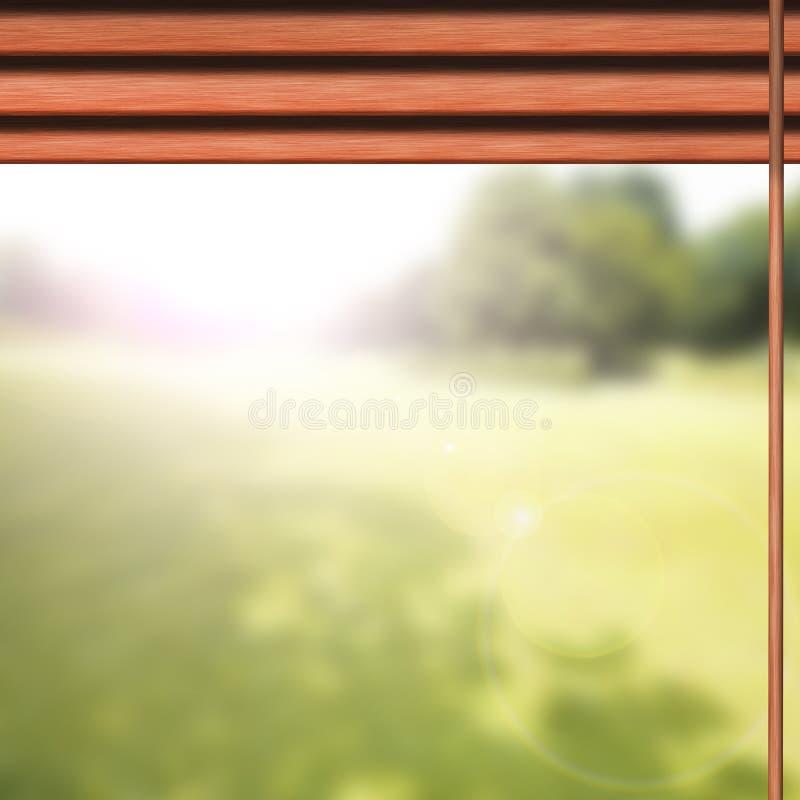 Horizontale jaloezie, venster royalty-vrije stock foto