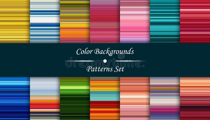 Horizontale kleurrijke strepen abstracte achtergrond, uitgerekt pixel royalty-vrije illustratie