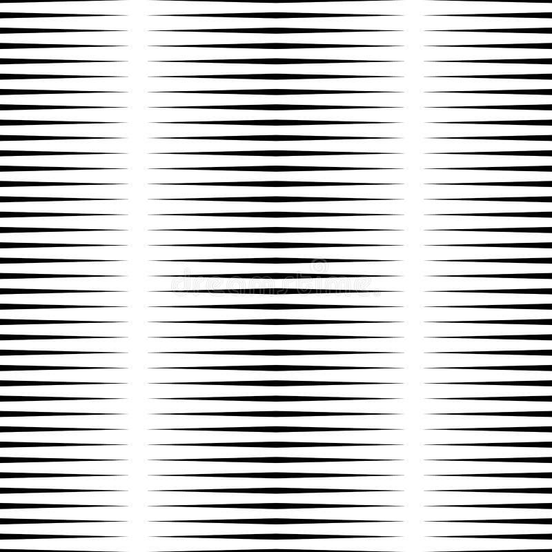 Horizontale lijnen herhaalbaar geometrisch patroon Strepen, stroken stock illustratie