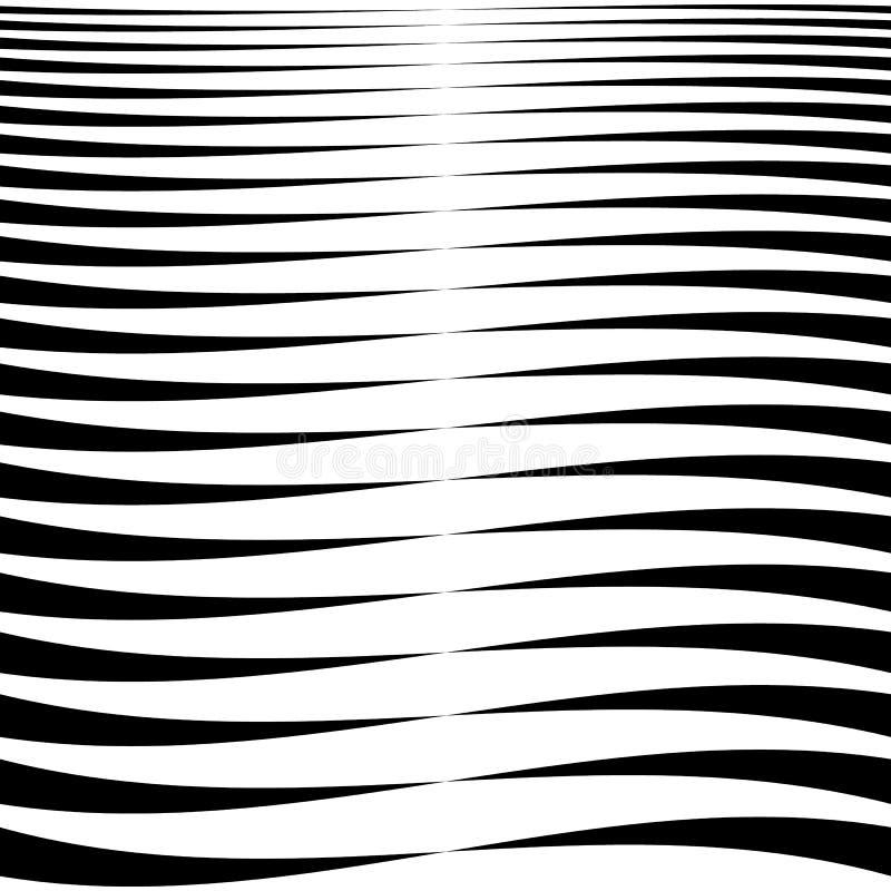 Horizontale lijnen, strepen - het Golven, golvende lijnen van dik stock illustratie