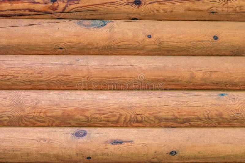Horizontale logboektextuur Houten textuur van logboeken stock afbeelding