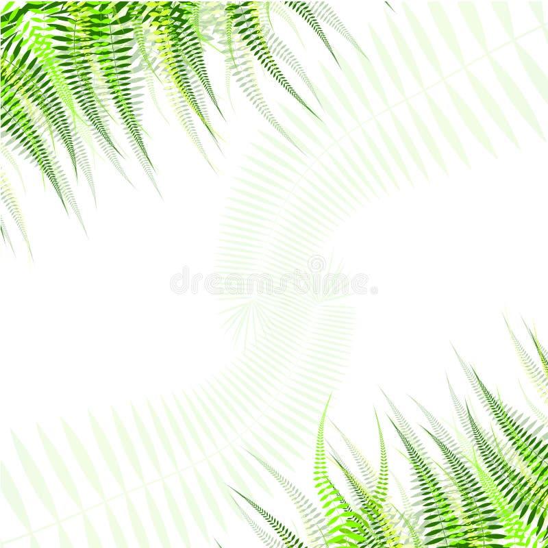 Horizontale naadloze achtergrond met groene bladeren royalty-vrije illustratie