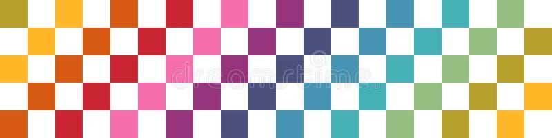 horizontale nahtlose abstrakte Entwurfsfahnenschablone mit leerem Raum stock abbildung